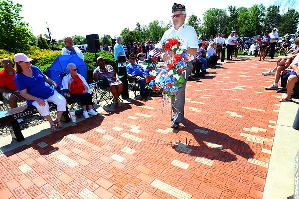 Memorial Day ceremony held at the Veterans Memorial at Darrough Chapel Park on Monday May 28, 2018.<br /> Tim Bath   Kokomo Tribune