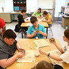 Maconaquah Middle School eighth graders made poppies out of clay on May 2, 2018, for Miami County's World War I memorial.<br /> Kelly Lafferty Gerber | Kokomo Tribune