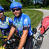 Amy and Dave Freedom ride bikes while pulling a canoe on May 24, 2018. They came riding into Kokomo along the Nickel Plate Trail to draw attention to the Boundary Waters of Minnesota.<br /> Tim Bath | Kokomo Tribune