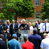 Noblesville Police and Noblesville schools held a press conference on Friday afternoon May 25, 2018, at Noblesville West Middle School where a morning shooting left a teacher and a student hospitalized. Noblesville Police Chief Kevin Jowitt talks about he shooting.<br /> Tim Bath | Kokomo Tribune