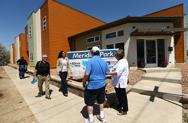 The exterior of Bona Vista's Meridian Park Apartments on Tuesday, May 1, 2018.<br /> Kelly Lafferty Gerber   Kokomo Tribune