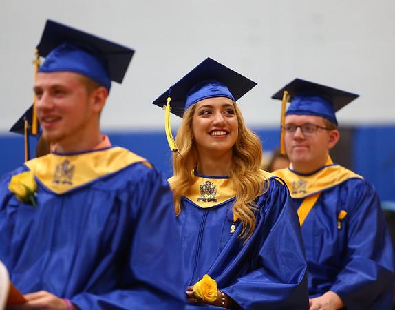 Tri-Central's 2018 graduation on Saturday, May 26.<br /> Kelly Lafferty Gerber   Kokomo Tribune