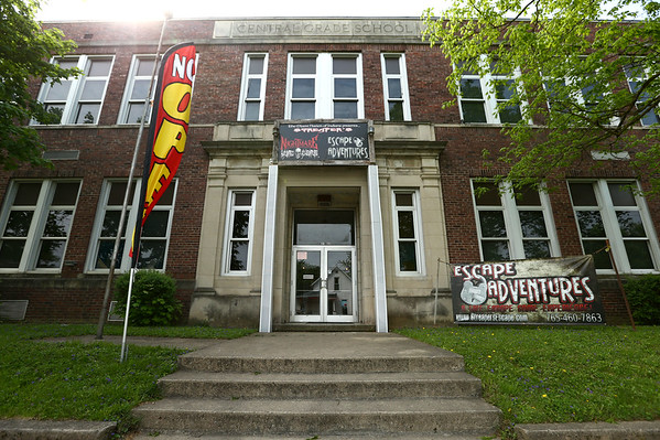 Part of Peru's old high school has been transformed into Streaper's Escape Adventures shown on May 11, 2018.<br /> Kelly Lafferty Gerber   Kokomo Tribune
