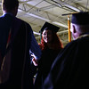 Rachael Coroa shakes hands and crosses the stage during the Ivy Tech graduation on Friday, May 11, 2018.<br /> Kelly Lafferty Gerber | Kokomo Tribune