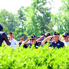 Memorial Day ceremony held at the Veterans Memorial at Darrough Chapel Park on Monday May 28, 2018. The Disabled Americna Veterans chapter 28 placed a wreath at the memorial before a salute.<br /> Tim Bath | Kokomo Tribune