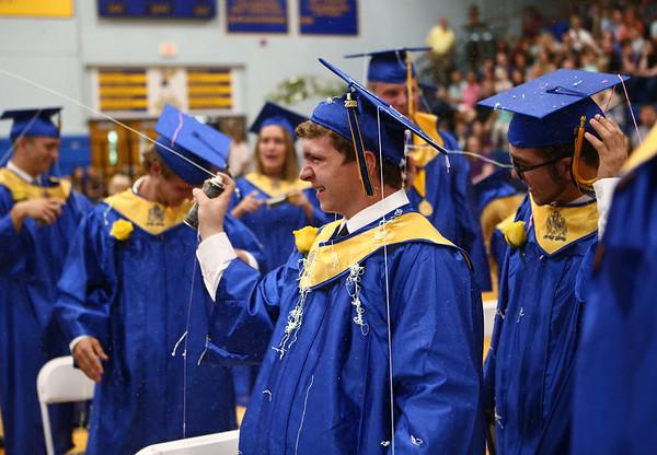 Tri-Central's 2018 graduation on Saturday, May 26.<br /> Kelly Lafferty Gerber | Kokomo Tribune