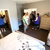 Attendees of the Bona Vista's Meridian Park Apartments open house on Tuesday, May 1, 2018, take a look inside one of the bedrooms and bathrooms.<br /> Kelly Lafferty Gerber | Kokomo Tribune