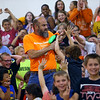 Maconaquah Elementary students gathered to watch their principal Kelly McPike and the middle school principal Craig Jernagan kiss a pig on May 30, 2018. The event was a fundraiser that brought in $1100 to help a family who's father is in the hospital with a brain tumor.<br /> Tim Bath | Kokomo Tribune