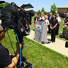 Noblesville Police and Noblesville schools held a press conference on Friday afternoon May 25, 2018, at Noblesville West Middle School where a morning shooting left a teacher and a student hospitalized. Noblesville schools Superintendent Dr. Beth Niedermeyer talks about the shooting.<br /> Tim Bath | Kokomo Tribune