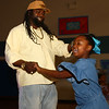Izra Bogan, 8, dances with her dad Darnell Butler at the Bon Air Elementary family prom on Friday, May 18, 2018.<br /> Kelly Lafferty Gerber | Kokomo Tribune