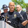 Noblesville Police and Noblesville schools held a press conference on Friday afternoon May 25, 2018, at Noblesville West Middle School where a morning shooting left a teacher and a student hospitalized. Noblesville Police spokesperson Bruce Barnes talks about he shooting.<br /> Tim Bath | Kokomo Tribune