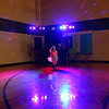 Jade Hensley, 6, dances in the lights during the Bon Air Elementary family prom on Friday, May 18, 2018.<br /> Kelly Lafferty Gerber | Kokomo Tribune