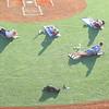 Yoga at the stadium lead up by Conner Sanburn on May 23, 2018. <br /> Tim Bath | Kokomo Tribune