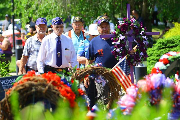 Memorial Day ceremony held at the Veterans Memorial at Darrough Chapel Park on Monday May 28, 2018.<br /> Tim Bath | Kokomo Tribune
