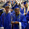 Gregory Miller laughs after getting covered in silly string at the end of Tipton High School's 2018 graduation on Saturday, May 26.<br /> Kelly Lafferty Gerber | Kokomo Tribune