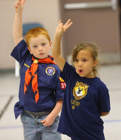 Girls in Kokomo's Cub Scout Pack 3506.<br /> Kelly Lafferty Gerber   Kokomo Tribune