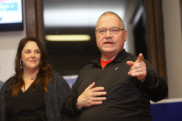 Steve Geiselman was elected to the Center Township board on Election Day at the Howard County Democrat headquarters on Tuesday, November 6, 2018. Kelly Lafferty Gerber   Kokomo Tribune