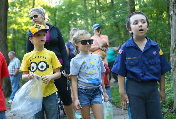 Girls in Kokomo's Cub Scout Pack 3506.<br /> Kelly Lafferty Gerber | Kokomo Tribune