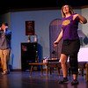 "Aubrey Drake and Jordan Kenyon rehearse on Tuesday, November 13, 2018, for ""Dancing Lessons,"" Kokomo Civic Theatre's latest production.<br /> Kelly Lafferty Gerber | Kokomo Tribune"