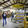 Kokomo Opalescent Glass tour attendees check out the glass and glass artists working on Friday, November 23, 2018.<br /> Kelly Lafferty Gerber | Kokomo Tribune