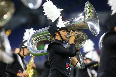 Alex Meyers plays the tuba during the Lewis Cass Marching Kings' performance in the Class C Marching Band State Championship at Lucas Oil Stadium on Saturday, November 3, 2018. Kelly Lafferty Gerber   Kokomo Tribune