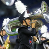 Alex Meyers plays the tuba during the Lewis Cass Marching Kings' performance in the Class C Marching Band State Championship at Lucas Oil Stadium on Saturday, November 3, 2018.<br /> Kelly Lafferty Gerber | Kokomo Tribune