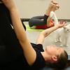Kadra Hillis pets Polly Pocket during cat yoga at the Kokomo Humane Society on Tuesday, November 13, 2018.<br /> Kelly Lafferty Gerber | Kokomo Tribune