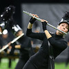 Kaitlin Ealy plays the flute during the Western Marching Panthers' performace in the Class C Marching Band State Championship at Lucas Oil Stadium on Saturday, November 3, 2018. Western received second place.<br /> Kelly Lafferty Gerber | Kokomo Tribune