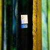 Kokomo Opalescent Glass sticker on a sheet of glass on Friday, November 23, 2018.<br /> Kelly Lafferty Gerber   Kokomo Tribune