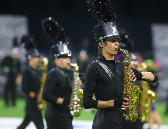 The Western Marching Panthers took second place in the Class C Marching Band State Championship at Lucas Oil Stadium on Saturday, November 3, 2018.<br /> Kelly Lafferty Gerber   Kokomo Tribune