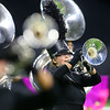 Abigail Winterhalter performs with the Western Marching Panthers in the Class C Marching Band State Championship at Lucas Oil Stadium on Saturday, November 3, 2018.<br /> Kelly Lafferty Gerber | Kokomo Tribune
