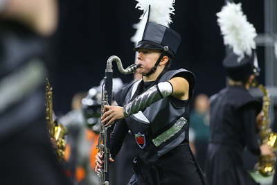 Paige Buttener plas the bass clarinet with the Lewis Cass Marching Kings, who took third place in the Class C Marching Band State Championship at Lucas Oil Stadium on Saturday, November 3, 2018. Kelly Lafferty Gerber   Kokomo Tribune