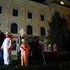 A live nativity scene adorned the Miami County Courthouse lawn during downtown Peru's Christmas open house on Wednesday, November 14, 2018.<br /> Kelly Lafferty Gerber | Kokomo Tribune