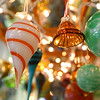 Glass ornaments made by Kokomo Opalescent Glass artists on display in the Op Shop on Friday, November 23, 2018.<br /> Kelly Lafferty Gerber | Kokomo Tribune