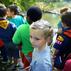 Lydia Woody, a Tiger in Kokomo's Cub Scout Pack 3506, goes on a nature walk in Jackson Morrow Park with her pack in September. Woody, 6, joined Cub Scouts because her older brother is in Boy Scouts.<br /> Kelly Lafferty Gerber | Kokomo Tribune
