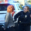 IU Kokomo police officer first class Emily Doran assists the Kokomo Police Department at a traffic stop and arrest on Thursday, October 18, 2018.<br /> Kelly Lafferty Gerber | Kokomo Tribune