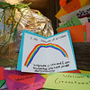 """I like everyone of all colors. Hi, my name is Lexi and I am excited that you have joined our community,"" reads one letter that includes a hand-drawn rainbow. Numerous cards from Eastern students, along with a welcome basket containing items from local businesses will be given to the Greentown family who were recently targeted by a letter that contained derogatory racial comments towards the family's adopted black child.<br /> Kelly Lafferty Gerber 