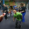 Ruben Ortiz-Lopez, 6, laughs as he sings and dances at Hopebridge Autism Therapy Center in Kokomo on October 18, 2018.<br /> Kelly Lafferty Gerber | Kokomo Tribune