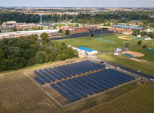 Tipton School Corporation's new solar field.<br /> Photo Provided