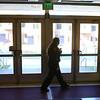 Emily Doran, IU Kokomo police officer first class, checks to make sure the doors are secure at IU Kokomo's downtown gym on Thursday, October 18, 2018.<br /> Kelly Lafferty Gerber | Kokomo Tribune