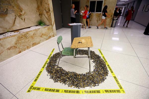 IUK artwork honoring school shooting victims on Oct. 9, 2018. <br /> Tim Bath | Kokomo Tribune
