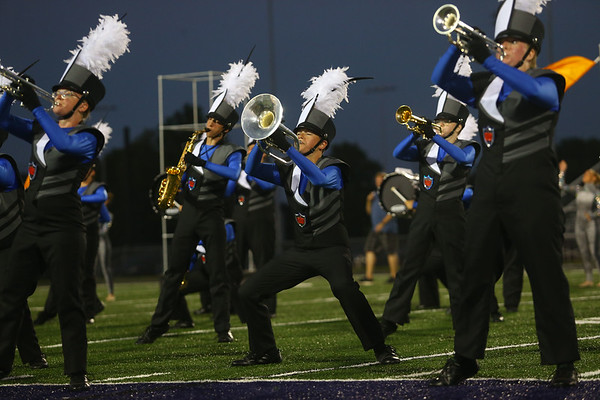Lewis Cass High School's marching band performs in Northwestern's inaugural Marching Band Invitational Contest on Saturday, September 15, 2018.<br /> Kelly Lafferty Gerber | Kokomo Tribune