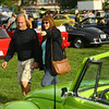 Mike and Cindy McClaran check out the cars on display for the Oktoberfest Volkswagen Cruise-In on Saturday, September 22, 2018, in Foster Park.<br /> Kelly Lafferty Gerber | Kokomo Tribune