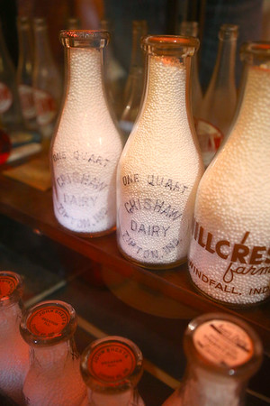 "Mauricio ""Mo"" Gonzalez, says the rarest Tipton items in his collection are the milk bottles from Grishaw Dairy, which existed near Tipton for only a few years until the early 1940s. <br /> Kelly Lafferty Gerber 