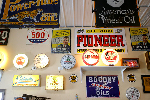 "Mauricio ""Mo"" Gonzalez, shows artifacts from Tipton's history on March 28, 2019. Most are on display in his garage built just for his collection.<br /> Kelly Lafferty Gerber 