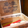 "Mauricio ""Mo"" Gonzalez outbid a former mayor of Tipton for this General John Tipton cigar box – a brand which was named after the namesake of the town. <br /> Kelly Lafferty Gerber 