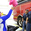 Ethan Wesner is a 6th grader at Tipton Middle School and has recently asked for a ton of stuffed animals for his birthday that he then delivered to fire and police. He drops a bag of them at Madison Twp. Volunteer Fire Department on December 27, 2019. He tosses one of the animals to chief Ken Kemper.<br /> Tim Bath | Kokomo Tribune