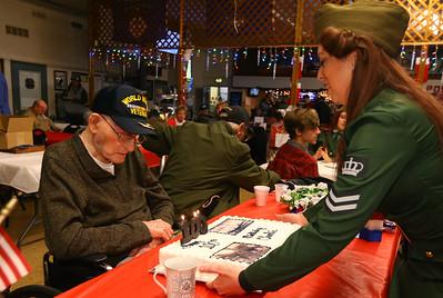 Family organized a birthday party for WWII vet Charlie Ormsby at the VFW 1152 hall on December 28, 2019.  Tim Bath | Kokomo Tribune