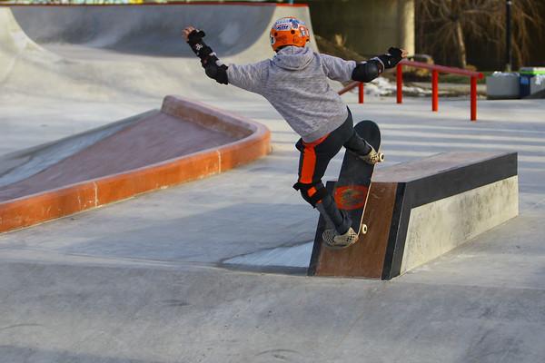 The City of Kokomo's newest skate park located at Foster Park opens to a big crowd on December 23, 2019.<br /> Tim Bath | Kokomo Tribune