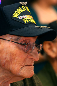 Family organized a birthday party for WWII vet Charlie Ormsby who turned 100 this year at the VFW 1152 hall on December 28, 2019.  Tim Bath | Kokomo Tribune